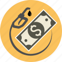 business, dollar, energy, fuel, handle, money, nozzle, oil, pump, station icon