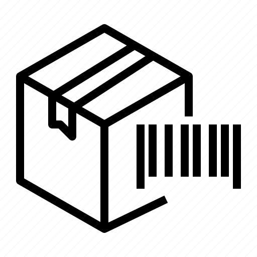 barcode, box, package, parcel icon