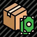 banknote, cash, cod, delivery, money, on, parcel