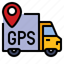 delivery, gps, parcel, tracking icon