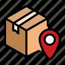 delivered, destination, on, revieved icon