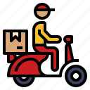 delivery, bike, massenger, express, motorcycle icon