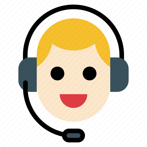 Call, center, contact, man, support icon - Download on Iconfinder