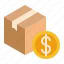 cash, cod, coin, delivery, money, on, parcel