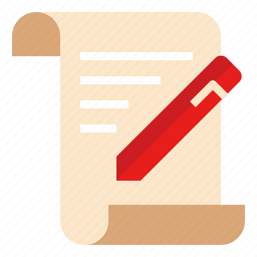 contract, document, sign icon