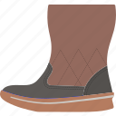 boot, female, flat, fluffy, fur, leather, object icon
