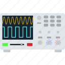 electrical, electronic, equipment, experiment, flat, oscilloscope, wave