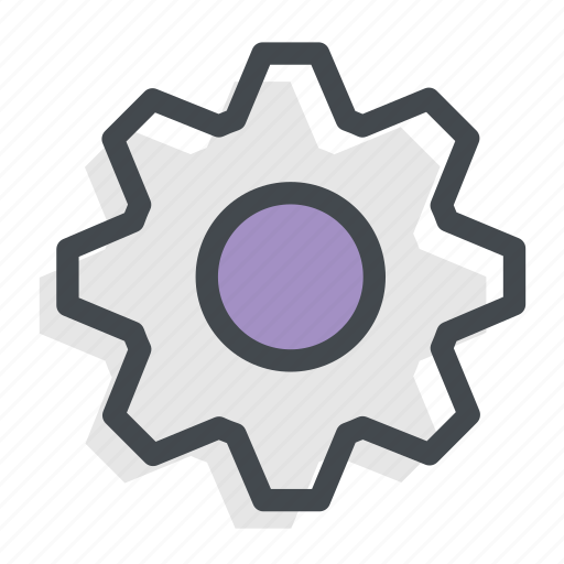 cog, gear, process, system icon