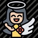angel, guardian, halo, women, spirit icon