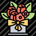 flower, bouquet, vase, decoration, present