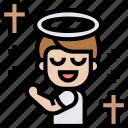 prayer, halo, christian, soul, spirit icon