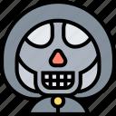 reaper, grim, death, skeleton, skull