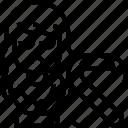 ribbon, mourner, awareness, symbol, banner icon