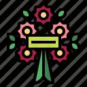 bouquet, flower, wreath, decoration, funeral