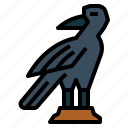 crow, raven, bird, animal, spooky
