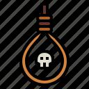 death, skeleton, rope, suicide, funeral