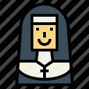 nun, christian, catholic, woman, avatar