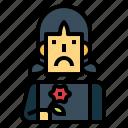 woman, avatar, grief, sad, flower