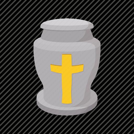 burial, cartoon, dead, death, funeral, grave, urn icon