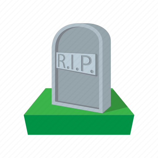 cartoon, death, grave, gravestone, graveyard, headstone, stone icon