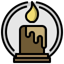 burial, candle, cultures, flame, pray, prayer, ritual icon