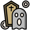 fear, funeral, horror, scare, spirit, terror, witch icon
