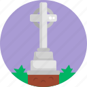 grave, services, graveyard, cross, funeral, grave stone icon
