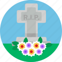 grave, services, graveyard, rip, funeral, grave stone icon