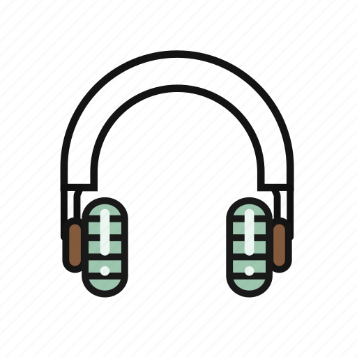 funny, headphone, lovely, music, round icon