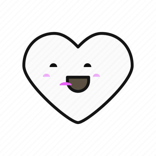 funny, heart, love, lovely, multicolor, valentines icon