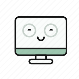computer, lovely, monitor, multicolor, work icon