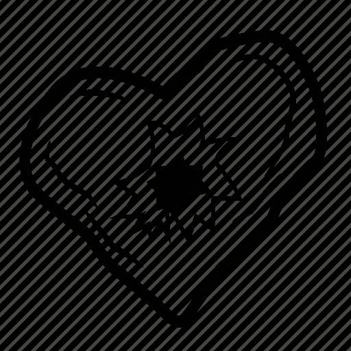 heart, hole icon