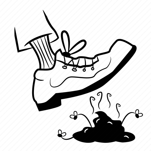 crap, dog, foot, poop, shit, step icon