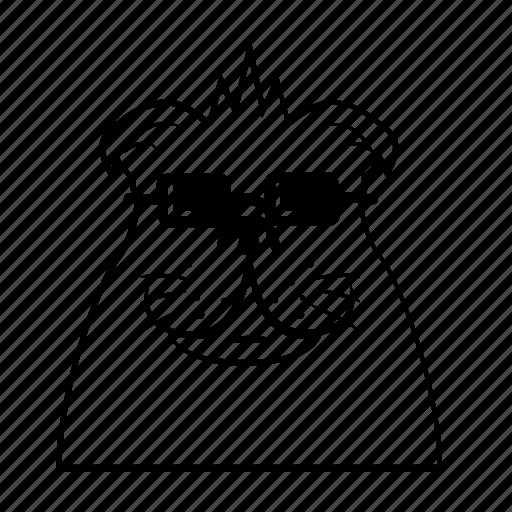 bulldog, cool, dog icon