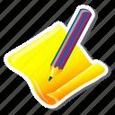 contact, edit, note, paper, pen, pencil, write icon