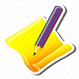 contact, edit, note, paper, pen, pencil, write icon
