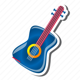 audio, guitar, media, multimedia, music, play, player icon