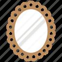 bathroom mirror, home interior, mirror, salon mirror, wall mirror icon