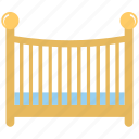baby bed, baby cot, baby crib, baby furniture, nursery room icon