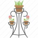 branch plant stand, flower rack, garden decor, metal plant stand, plant pot icon