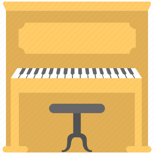 Clavichord, grand piano, musical instrument, piano table, piano with stool table icon - Download on Iconfinder