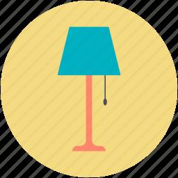 electric, floor lamp, lamp, lamp light, living room lamp icon