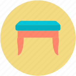 cosmetics, dresser stool, dressing, furniture, vanity bench icon