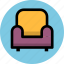 chair, furniture, interior, seat, sofa icon