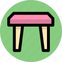 furniture, interior, seat, stool icon