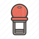chair, furniture, interior, red, seat icon
