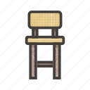 chair, furniture, seat, yellow icon