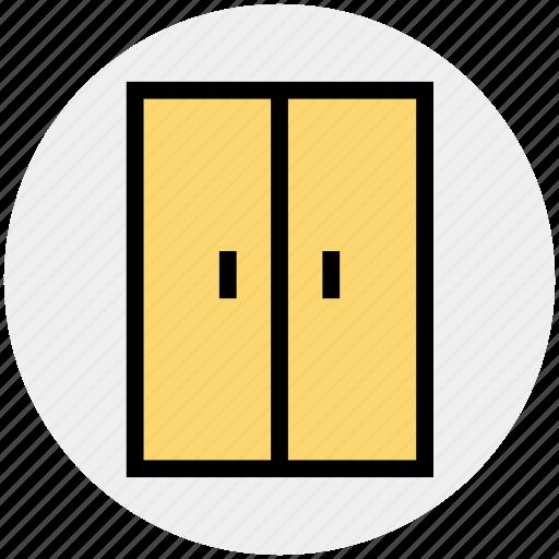 bedroom cupboard, furniture, house, interior, protection, wardrobe icon