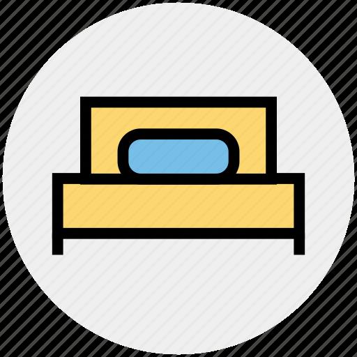 bed, bedroom, bedroom furniture, furniture, single bed, sleeping icon