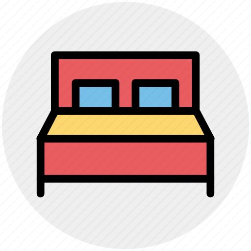 bed, bedroom, bedroom furniture, double bed, furniture, sleeping icon